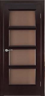 Ульяновские межкомнатные двери 50-10 Кватро (венге классический)