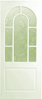 Межкомнатные белые двери 6-7 Арка с двойной фрезой