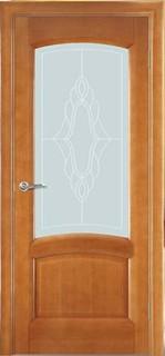 Ульяновские межкомнатные двери 50-12 Леон (анегри светлый)