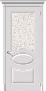 Межкомнатные белые двери 20-41 Овал