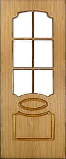 Ярославские межкомнатные двери 9-9 Овал (шпон дуб)