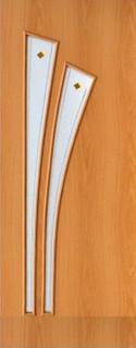 Межкомнатные ламинированные двери 20-7 Салют (орех миланский)
