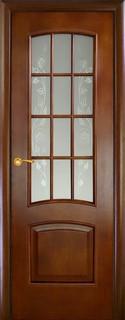 Ульяновские межкомнатные двери 25-3 Леон-М (анегри темное)