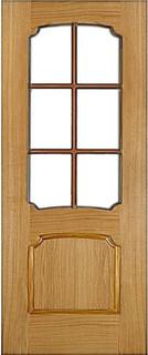Ярославские межкомнатные двери 9-7 Леон 2 (шпон дуб)