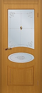 Ярославские межкомнатные двери 3-16 Овал (орех античный)