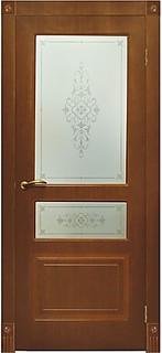 Ярославские межкомнатные двери 3-2 Трио (мореный дуб)