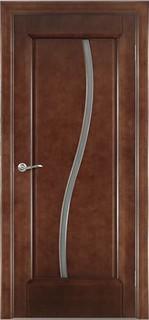 Ульяновские межкомнатные двери 50-9 Силуэт (миланский орех)
