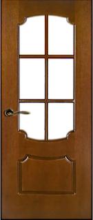 Ярославские межкомнатные двери 9-1 Бант (орех ф/л)