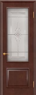 Ульяновские межкомнатные двери 25-1 Прага (миланский орех)