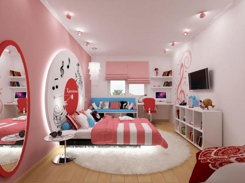 Фото ремонта комнат для подростков девушек