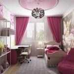 Детская комната для девочки 12 кв м