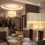 Дизайн с интерьером кухни