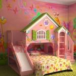 Дизайн маленькой детской комнаты для девочки