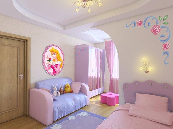 Дизайн комнаты для девочки 4-5 лет