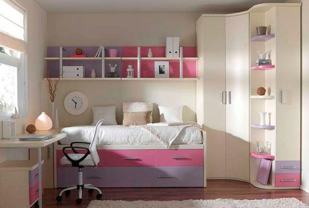 Интерьер маленькой детской комнаты фото для девочек