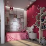 Стены в детской комнате для девочки
