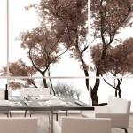 Фотообои для кухни пейзаж дерева
