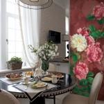 Цветочное оформление для кухни, фотообои купить