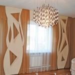 Классический интерьер штор для зала