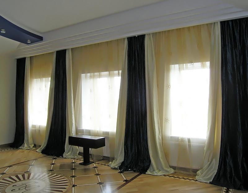 Шторы для большого зала фото