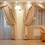 Необычные шторы для зала