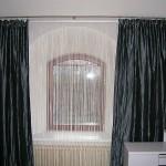 Черные шторы для зала