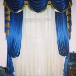 Синие шторы в зал