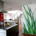 Фотообои трава для оформления кухни