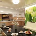 Фотообои тюльпаны для кухни
