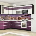 Фиолетовые фотообои для кухни