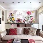 Фотообои с цветами для кухни