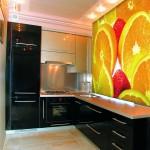 Фото ярких фотообоев для кухни
