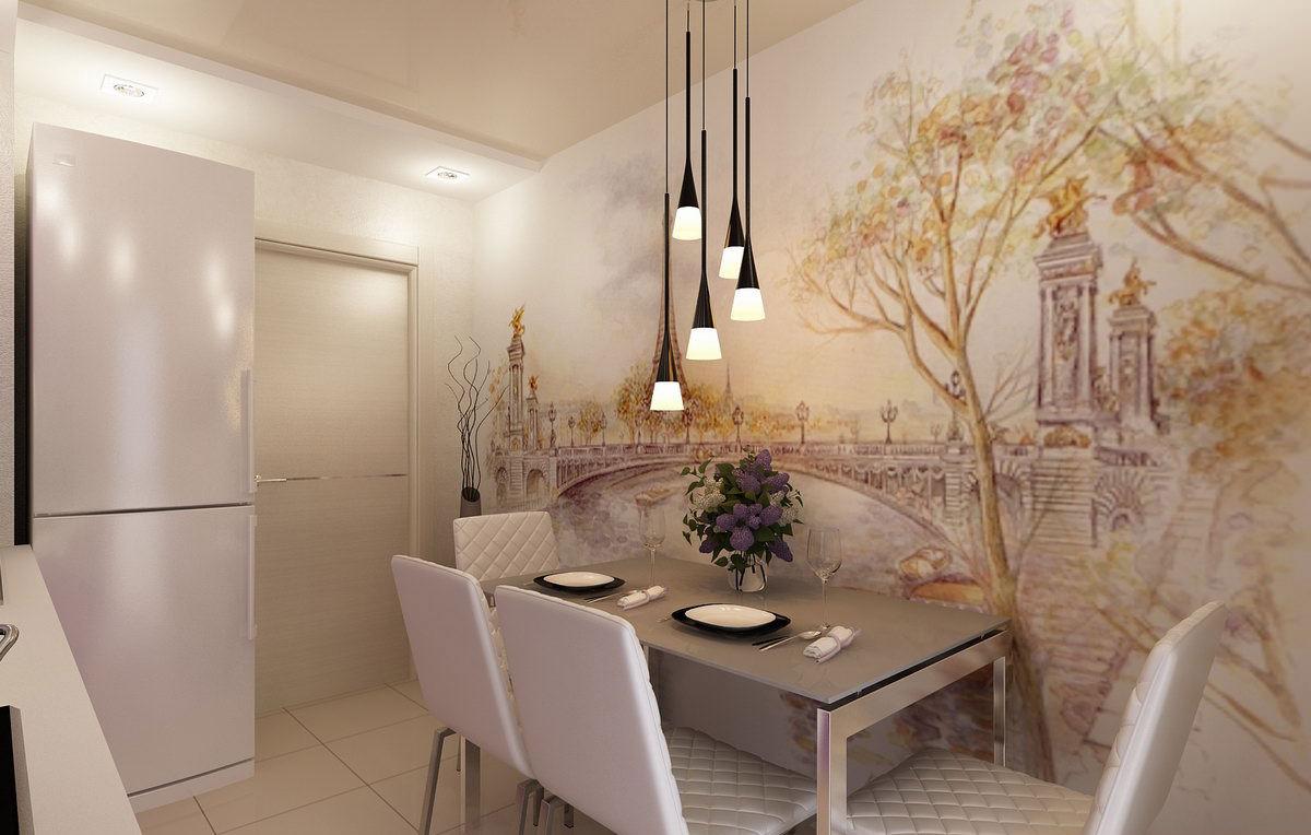 Дизайн фотообоев на кухню