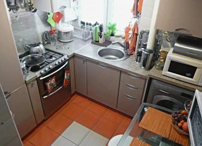 Кухня в хрущевке 6 кв.м дизайн с