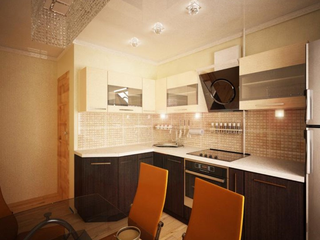 Дизайн маленькой кухни фото 5.5 кв.м с