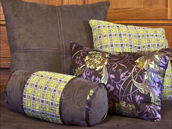 Подушки и валики для дивана своими руками 165