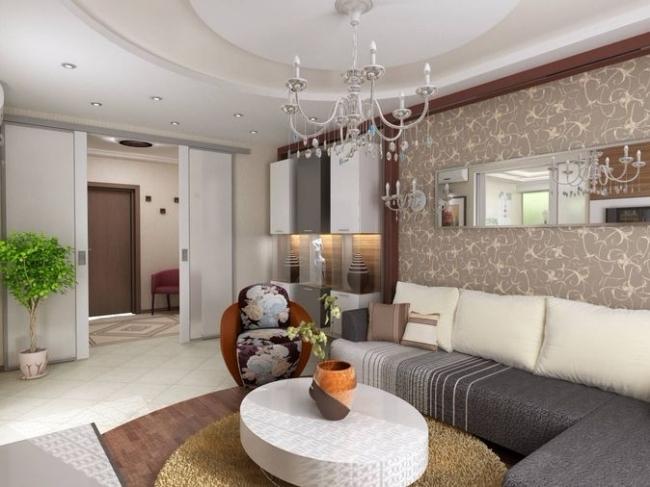 Дизайн гостиной в хрущевке - 18 кв м, дизайн маленькой комнаты