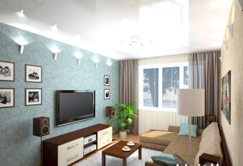 Дизайн спальни гостиной 15 кв.м