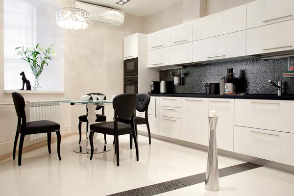 Кухня белого цвета в интерьере