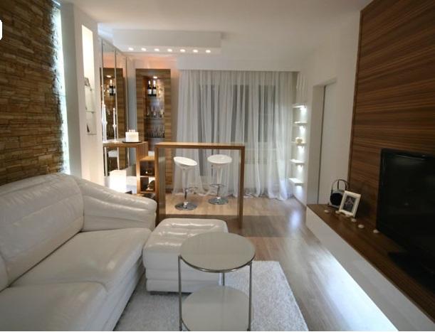 Дизайн гостиной спальни 17 кв м фото