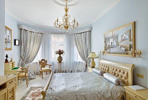 комплект шторы и покрывало для спальни турция в многослойном оформлении