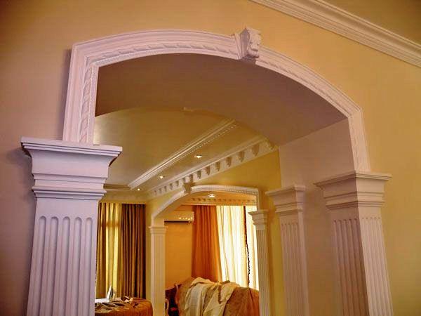 отделка арки лепниной 5