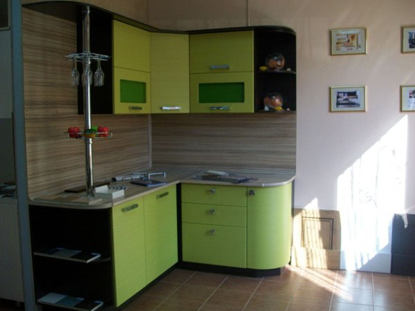 Фото кухонь венге салатовый