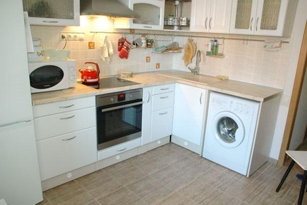 Стиральная машина в кухне дизайн