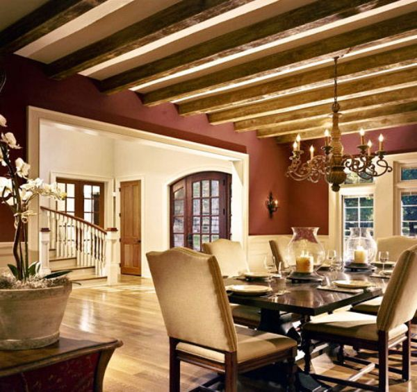 Фото дизайна квартир с балками потолочными
