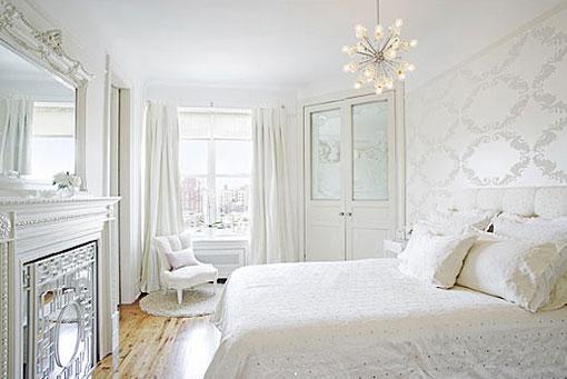 Дизайн спальня в белых тонах
