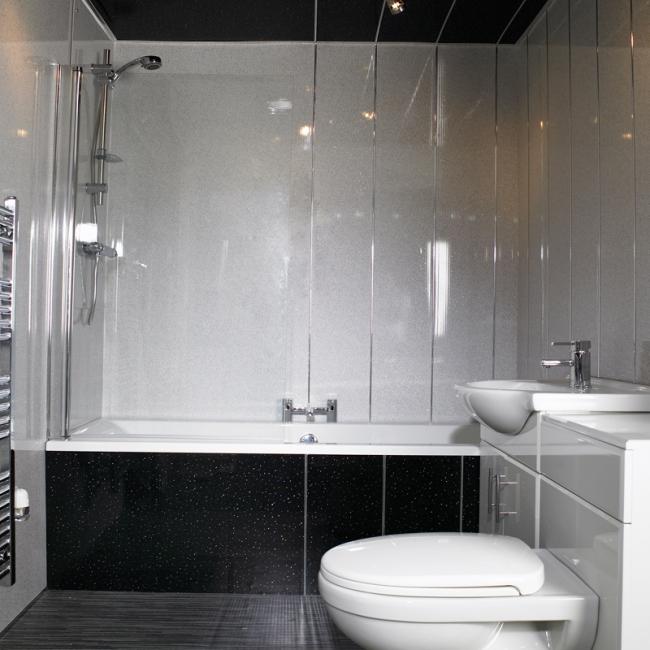 Ремонт ванной комнаты пластиком фото