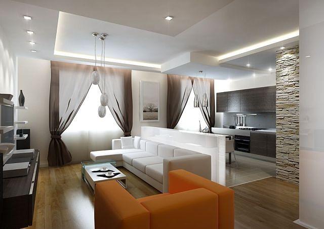 Как разделить кухню и гостиную дизайн