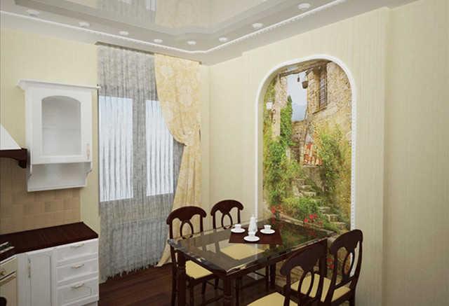 Дизайн фреска на кухне