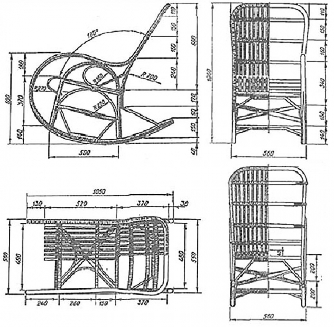 Кресло качалка своими руками из металла фото чертежи и ход работы